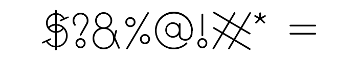GeoMath  Regular Font OTHER CHARS