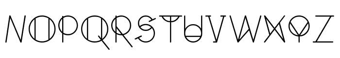 GeoMath  Regular Font LOWERCASE