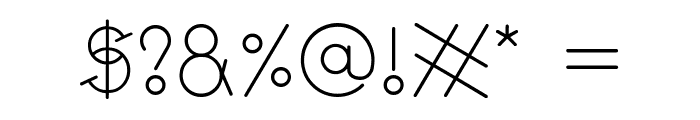 GeoMath  Smooth Font OTHER CHARS