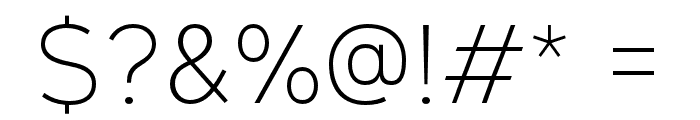 GeometosNeueExtraLight Font OTHER CHARS