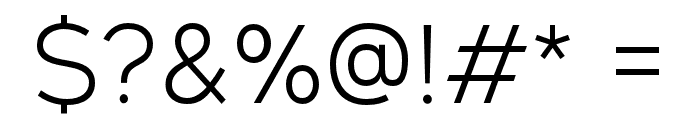 GeometosNeueLight Font OTHER CHARS