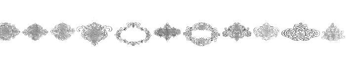 George Bickham Rough Ornaments Regular Font UPPERCASE