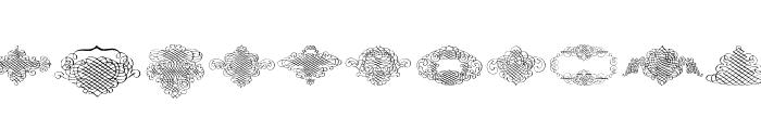 George Bickham Rough Ornaments Regular Font LOWERCASE