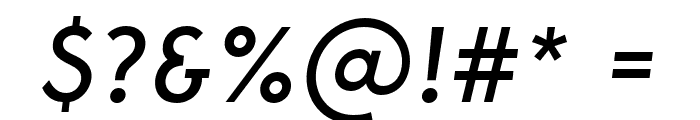 George-Italic Font OTHER CHARS