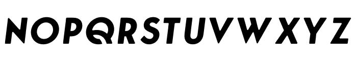 George Round Bold Italic Font UPPERCASE