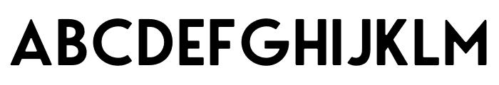 George Round Semibold Font UPPERCASE