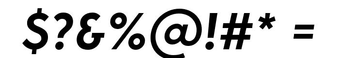 George-SemiBoldItalic Font OTHER CHARS