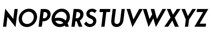 George-SemiBoldItalic Font UPPERCASE