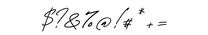 George Signature Regular Font OTHER CHARS