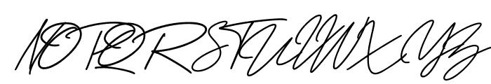 George Signature Regular Font UPPERCASE