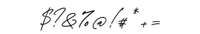 GeorgeSignature-Regular Font OTHER CHARS