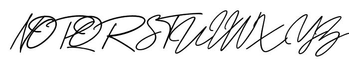GeorgeSignature-Regular Font UPPERCASE