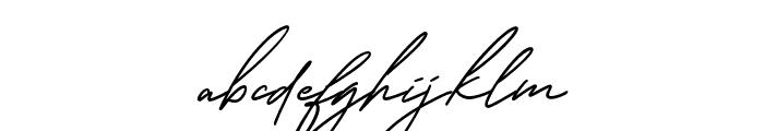 GeorgeSignature-Regular Font LOWERCASE