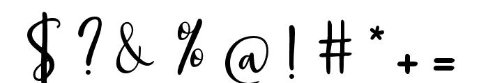 GeorgeousScript Font OTHER CHARS