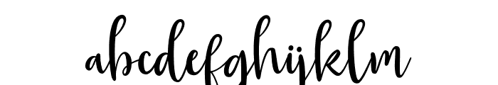 GeorgeousScript Font LOWERCASE