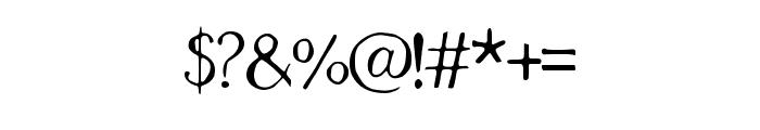 Geranium Regular Font OTHER CHARS