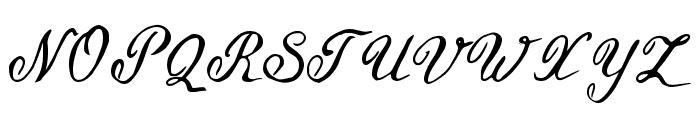 Geranium Regular Font UPPERCASE