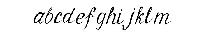 Geranium Regular Font LOWERCASE