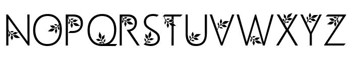 Geranium Font UPPERCASE