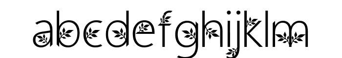 Geranium Font LOWERCASE