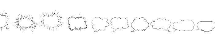 Gibon-Balloons Font LOWERCASE
