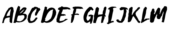 Gilmoore Rough Font UPPERCASE