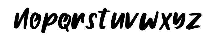 Gilmoore Font LOWERCASE