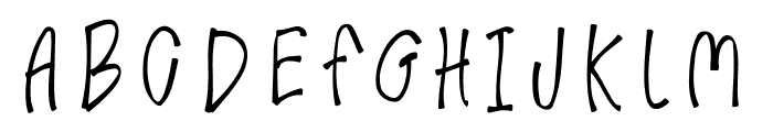 GimmeLove Font UPPERCASE