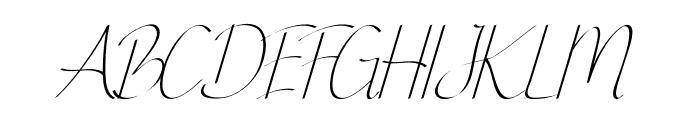 Ginger Spice Italic Font UPPERCASE