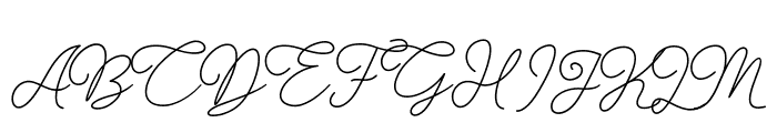 Gisellia Regular Font UPPERCASE