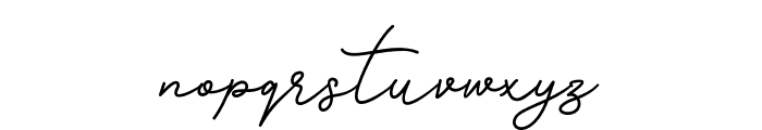 Gisellia Regular Font LOWERCASE