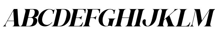 Gishella Morely Italic Font UPPERCASE