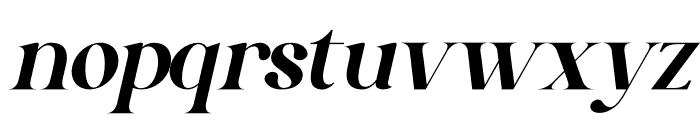 Gishella Morely Italic Font LOWERCASE