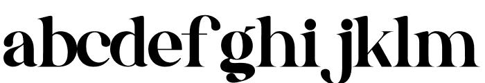 Gishella Morely Font LOWERCASE