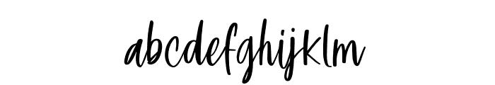 Glamkilla Regular Font LOWERCASE