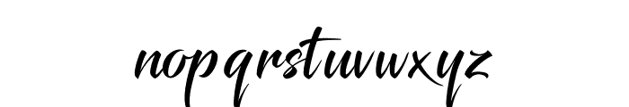 Glimmer Font LOWERCASE