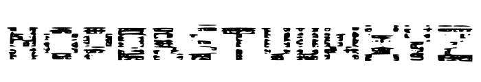 Glitch Block Glitch Font UPPERCASE