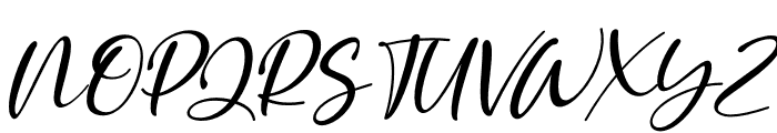 Golden Ballpoint Italic Font UPPERCASE