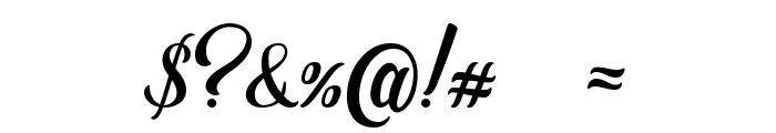 Golden Brush Font OTHER CHARS
