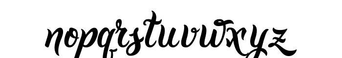 Golden Brush Font LOWERCASE