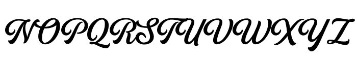 Golden Hills Font UPPERCASE