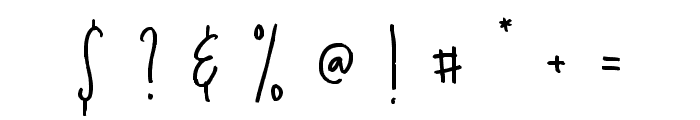 Golden Light Font OTHER CHARS