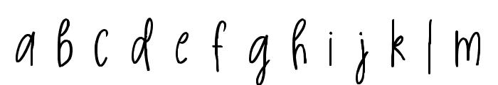 Golden Light Font LOWERCASE