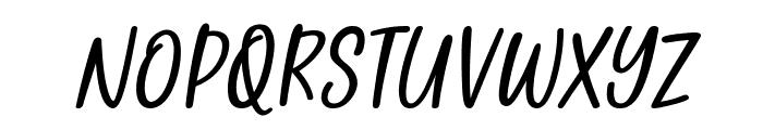Golden Memories Italic Font UPPERCASE