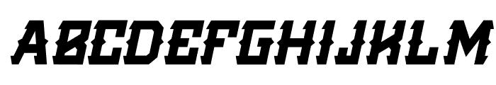 Golden Silver Italic Font UPPERCASE
