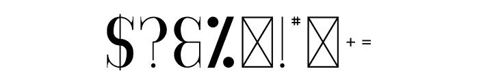 GoldenBird Down Font OTHER CHARS
