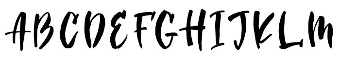 Golden_Night Script Font UPPERCASE