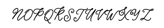 Good_feeling Regular Font UPPERCASE