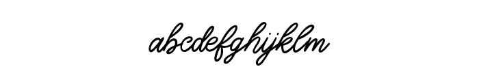Good_feeling Regular Font LOWERCASE