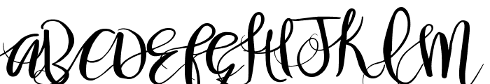Gorgeously You Font UPPERCASE